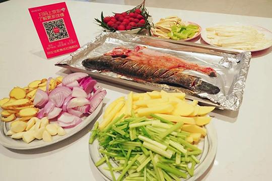 佳歌蒸烤消一体集成灶自制家庭烤鱼,尽享生活之美