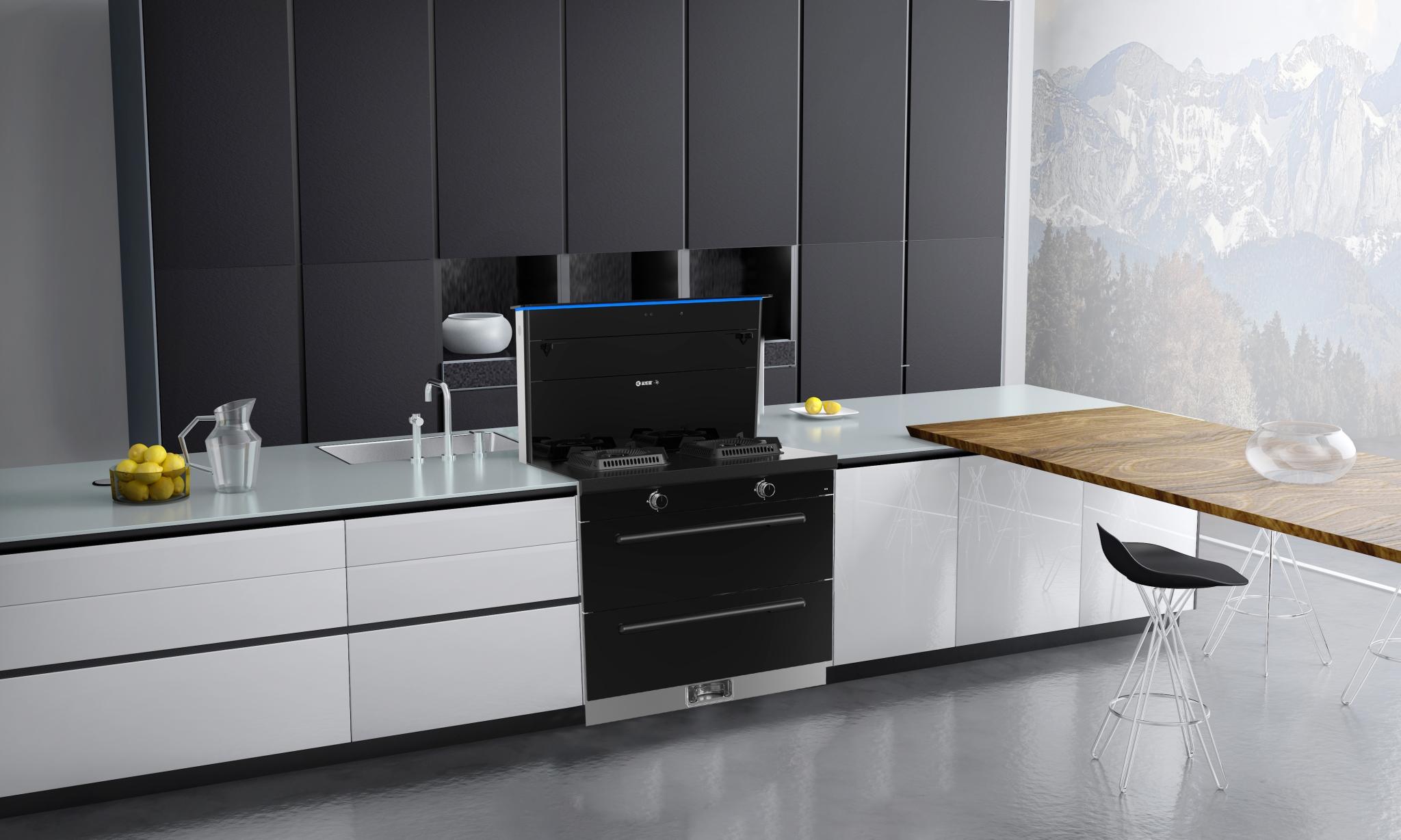 智能厨房,由蓝炬星AIoT•R6智能集成灶来实现