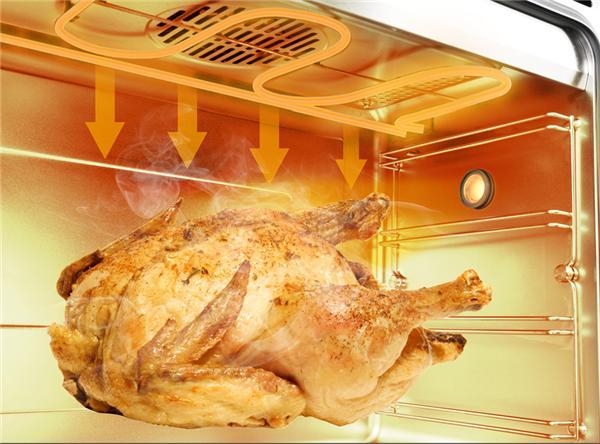 佳歌蒸烤消一体集成灶现360°三维立体烘烤