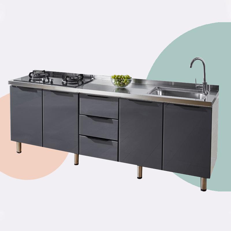 简易橱柜厨房橱柜一体柜