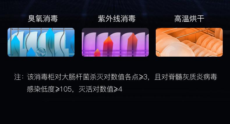 亿田D8GX家用集成灶消毒柜消毒能力